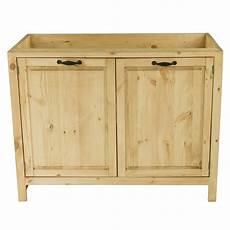 evier en bois massif meuble sous 233 vier en pin massif 120 cm 2 portes grenier