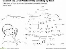 connect the dots practice skip counting by tens worksheet education