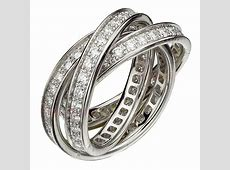 CARTIER Trinity Collection Diamond White Gold Ring