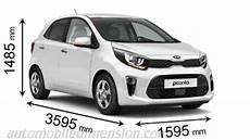 dimension kia picanto dimensions of kia cars showing length width and height