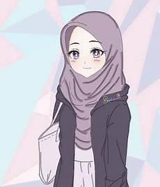Wallpaper Gambar Anime Lucu Berjilbab Wallpapershit