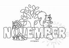 November Malvorlagen Quotes November Coloring Sheet Printable Coloring Page