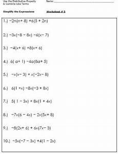 algebra worksheets for simplifying the equation simplifying expressions algebra worksheets