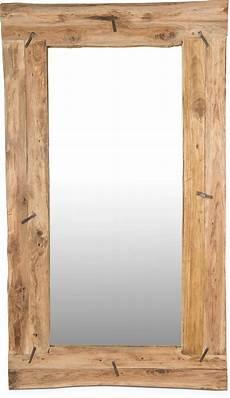 wand spiegel reflect wandspiegel aus recyceltem teakholz terrapalme