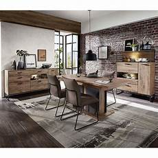 Esszimmer Set Washton Im Loft Style In Eiche Dunkel Optik
