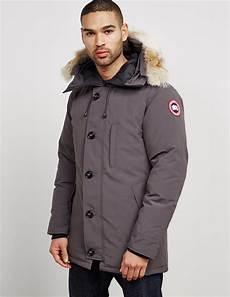 lyst canada goose mens chateau padded parka jacket grey