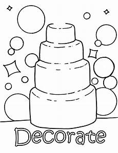 coloring picture wedding cake colouring pages wedding