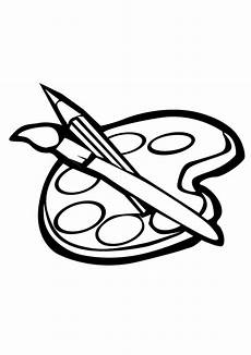 art supplies coloring pages clipart panda free clipart