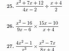 multiplying and dividing algebraic fractions worksheet with detailed solutions teaching