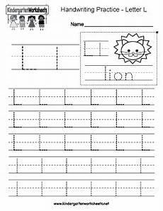 letter l worksheets for kindergarten 23191 free kindergarten writing worksheets learning to write the alphabet