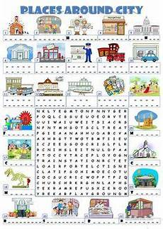 places in town writing worksheets 16040 my esl world worksheet places in town география activities esl e vocabulary