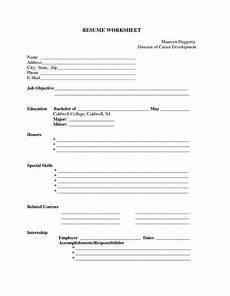 blank resume worksheet in 2020 resume form free printable resume templates free printable resume