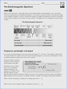 physical science electromagnetic spectrum worksheet 13191 the electromagnetic spectrum worksheet mychaume