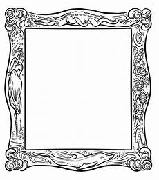 frame coloring page clipart best picture frame template