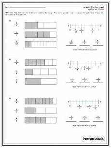 fraction bar worksheets 3856 comparing fractions worksheets with fraction bars and number lines