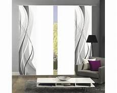 schiebegardinen grau schiebegardine 4er set wuxi grau 60x245 cm bei hornbach kaufen