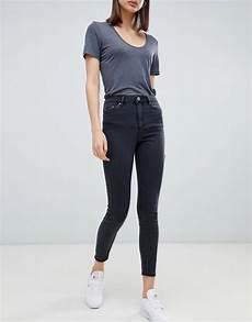 asos design ridley jean taille haute noir