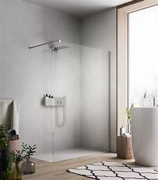 Begehbare Dusche Mit Duschwand Aus Glas F 252 R Moderne