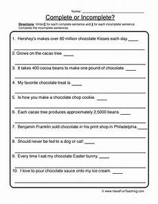 writing complete sentences worksheets 22136 resource writing complete incomplete sentences worksheet 2