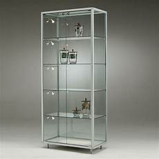 glas vitrine glasvitrine 2 t 252 ren 4 fachb 246 den glasvitrinen
