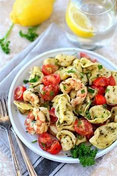 Tortellini Salat Rezept - easy pesto shrimp tortellini salad 20 minutes s