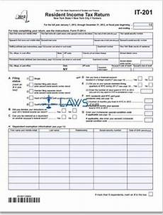 form it 201 resident income tax return tax forms laws com