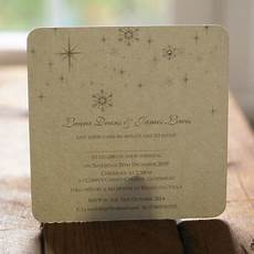 snowflake winter themed wedding invitations by beautiful