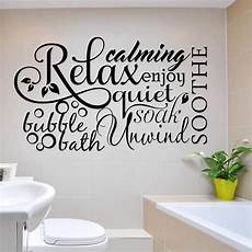 Relax Bath Collage Bathroom Vinyl Decal Wall