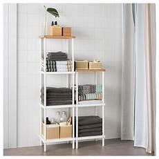 Bathroom Shelves Ikea Uk by Ikea Dynan White Bamboo Pattern Shelf Unit Upstairs