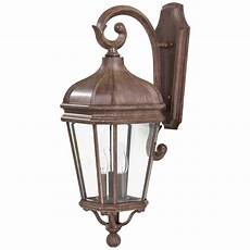 wall mounted light fixtures how to the great outdoors by minka lavery harrison 3 light vintage rust outdoor wall lantern 8692