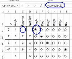 calculate survey scores with excel option buttons contextures blog