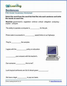 worksheets for grade 5 15420 grade 5 vocabulary worksheets printable and organized by subject k5 learning