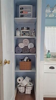 bathroom linen closet ideas organized linen closet the honeycomb home
