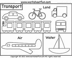 transport colouring worksheets 15181 means of transportation air land and water kindergarten and preschool 2 worksheets free