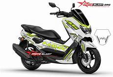 Modifikasi Warna Nmax by Inspirasi Modifikasi Striping Yamaha Nmax Warna Putih