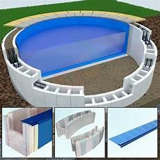 yapool ps25 styropor pool schwimmbecken rundbecken