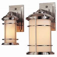 lighthouse wall lantern feiss lighthouse 1 light brushed steel outdoor wall