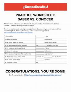 worksheets on saber and conocer 18418 practice worksheet saber vs conocer