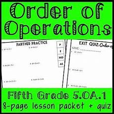 multiplication worksheets with pictures 4661 order of operations lesson 5th grade practice packet exit quiz 5 oa 1 order of operations