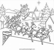 Malvorlage Rentierschlitten Weihnachtsmanner Schlitten 55 Gratis Malvorlage In