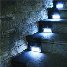 solar power led light path decking stair wall mounted fence step garden l ebay