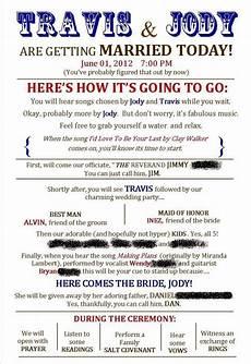 wedding program wolfpack wedding ideas pinterest wedding programs fun wedding programs