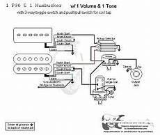 p90 and humbucker wiring diagram