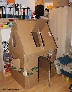 Kreative Kiste Spielhaus F 252 R Kinder Aus Pappe Karton Mit