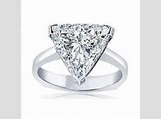 Designer Signature Style Trilliant Diamond Engagement Ring