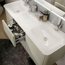 mobile bagno doppio lavello mobile bagno grigio natura 140 cm sospeso moderno con