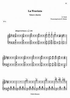 valzer delle candele spartito la traviata 3 valzer e duetto piano partituras