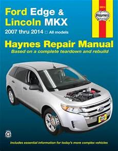 how to download repair manuals 2012 lincoln mkx navigation system ford edge lincoln mkx haynes repair manual 2007 2014 hay36014
