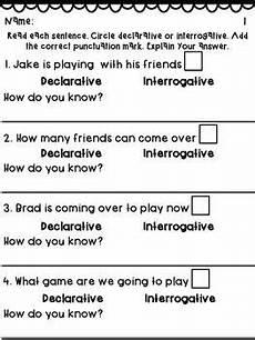 interrogative worksheets 18912 declarative interrogative sentence practice pack with images sentences