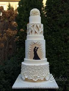 modern wedding cake inspired by fashion cakecentral com